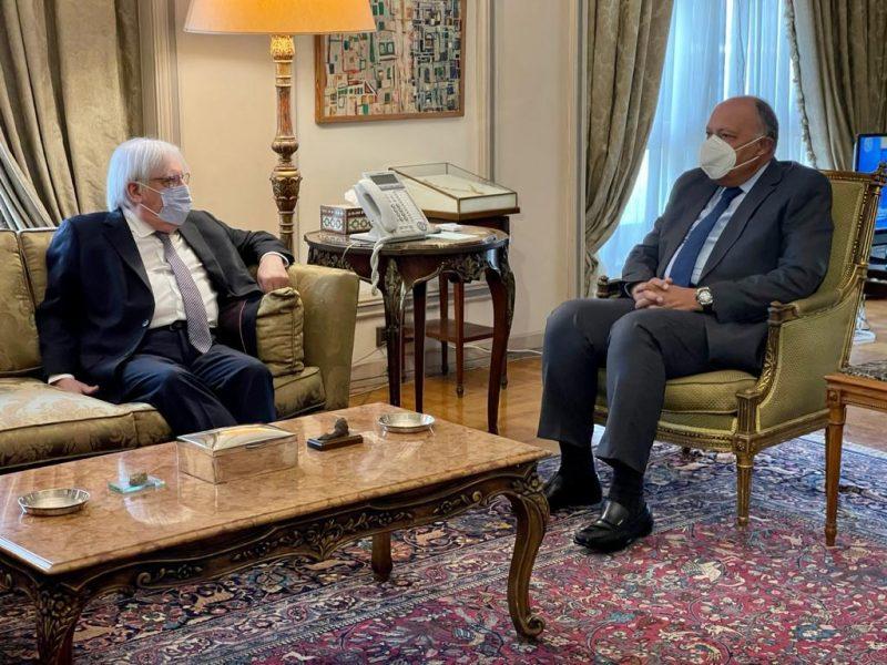 غريفيث يبحث مع وزير الخارجية المصري مستجدات الأوضاع في اليمن