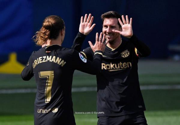 """برشلونة يحقق انتصارا ثمينا بفوزه على فياريال في """"الليغا"""""""