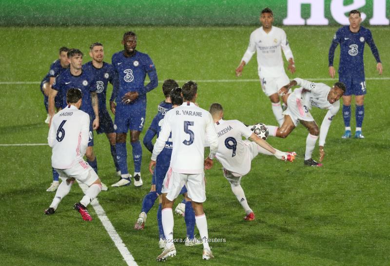 تأجيل الحسم بين ريال مدريد وتشيلسي إلى مباراة الاياب