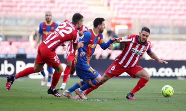 التعادل السلبي يحسم مباراة برشلونة وأتلتيكو مدريد