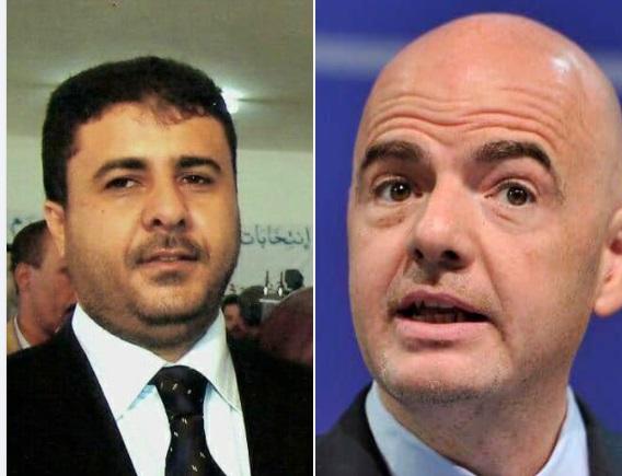 رئيس الفيفا يعزي رئيس الاتحاد اليمني لكرة القدم بوفاة المدرب سامي النعاش