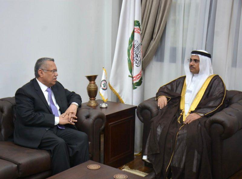 رئيس مجلس الشورى يلتقي رئيس البرلمان العربي لمناقشة آخر المستجدات