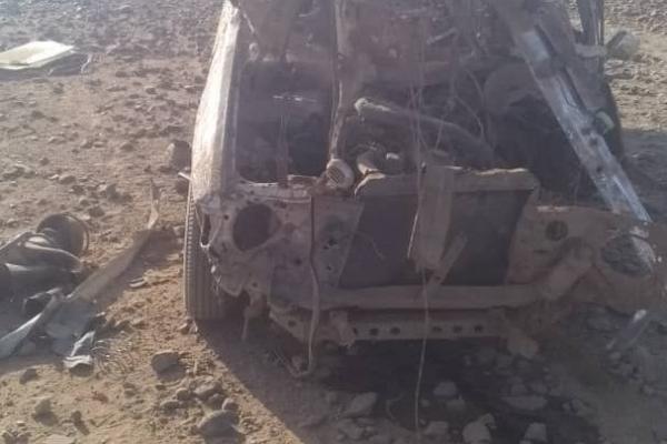 إصابة مواطن بانفجار لغم أرضي من مخلفات مليشيا الحوثي على سيارته