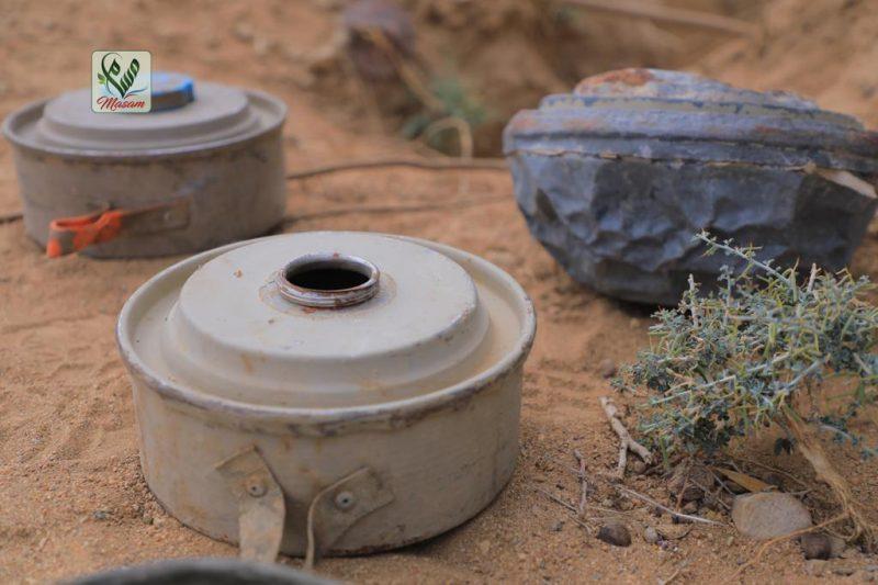 مسام تنزع 85 لغما من مخلفات مليشيا الحوثي في باب المندوب