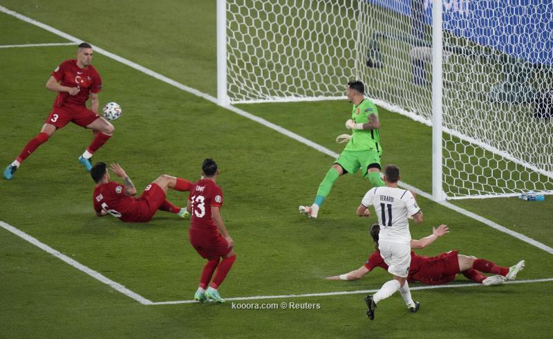 افتتاح مباريات يورو 2020.. تركيا تخسر أمام إيطاليا بنتيجة ثقيلة