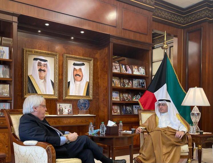 غريفيث يزور دولة الكويت في جولة لبحث سبل حل الأزمة اليمنية