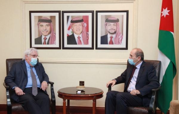 الأردن تبحث مع المبعوث الأممي إلى اليمن غريفيث جهود حل الأزمة اليمنية