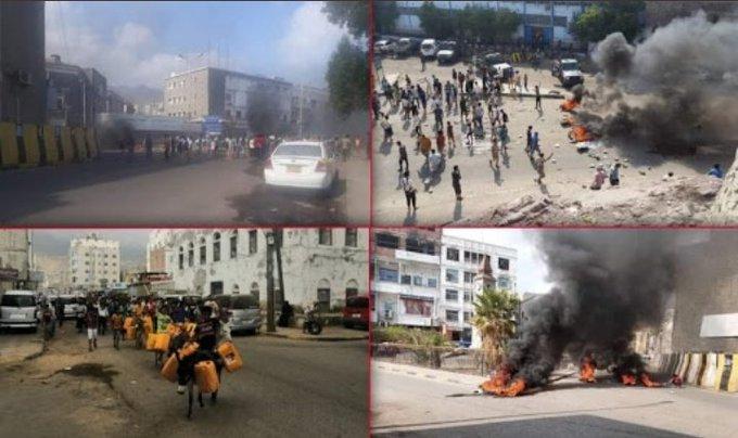 شاهد بالفيديو كيف تحولت العاصمة المؤقتة عدن الى ساحة حرب مفتوحة بين فصائل الانتقالي