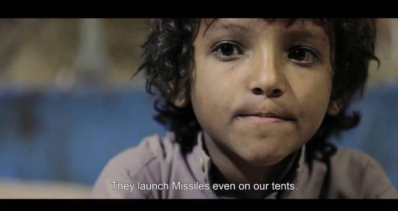 """""""الحلم المفقود"""" فيلم يمني تتزامن معه حملة إلكترونية لتسليط الضوء على معاناة الأطفال النازحين"""