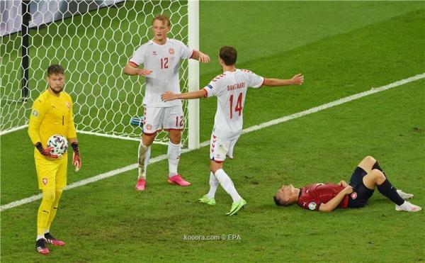 الدنمارك ينتصر على التشيك في منافسات ربع نهائي كأس الأمم الأوروبية