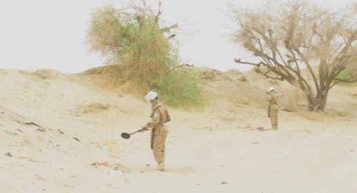 العقيلي: فرق الجيش الهندسية تبدأ تطهير مديرية رحبة من الألغام
