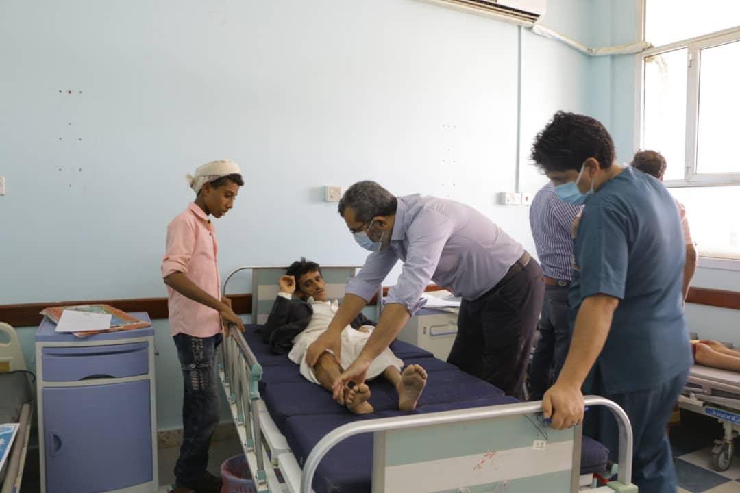 مخيم طبي مجاني تبدأه بعثة طبية مصرية لجرحى الجيش الوطني والمقاومة في مأرب