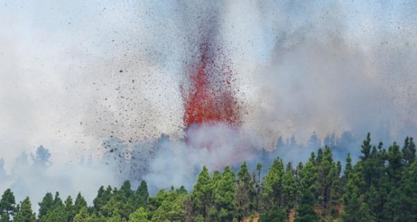 ثوران بركان في جزيرة بالما الإسبانية
