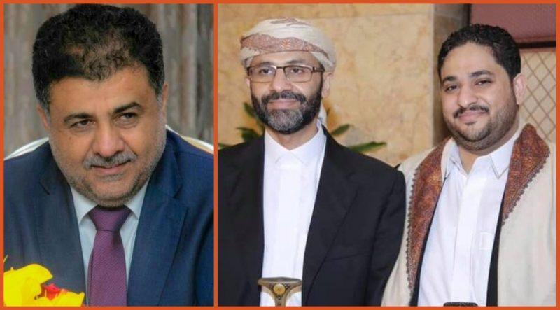 الشيخ احمد العيسي يعزي الشيخ حميد الأحمر بوفاة نجله محمد