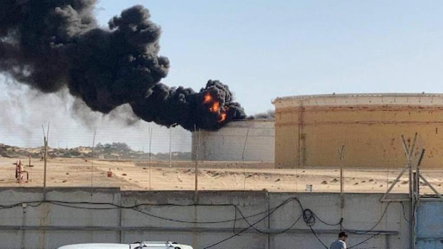 لبنان.. اندلاع حريق هائل في محطة لإنتاج الكهرباء
