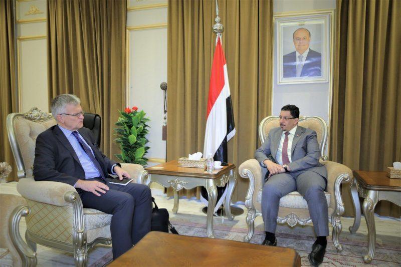 أكد خوض الحوثيين لحرب عبثية.. بن مبارك يبحث مع المبعوث السويدي جهود تحقيق السلام