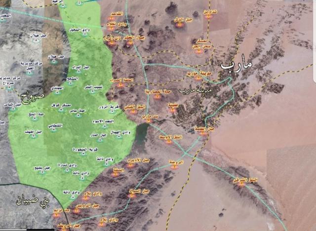 تطورات عسكرية متسارعة في العبدية والمقاومة الشعبية تحرر مواقع استراتيجية هناك وتحاصر مجاميع الحوثي